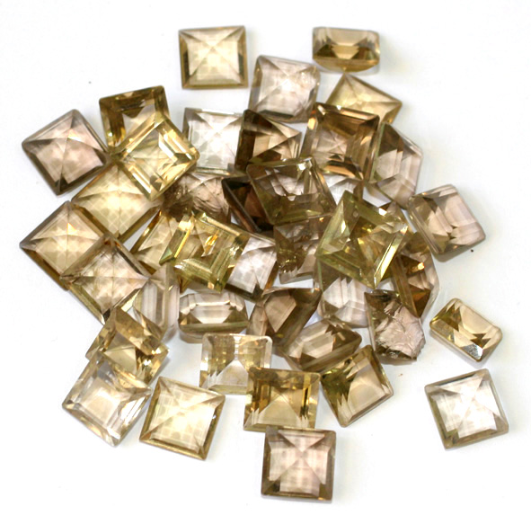 Square-shaped processed stones