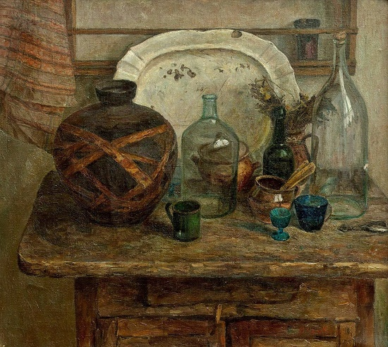 Still life with a Murom jar. 1980