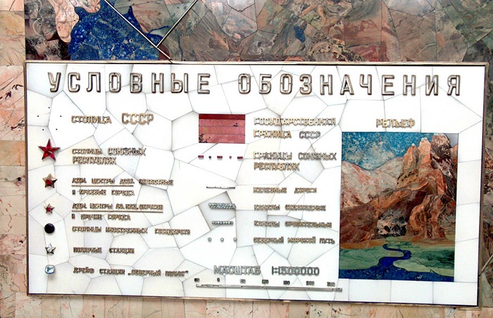 Symbols for the USSR map
