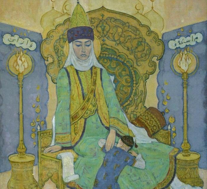 Syuyumbika with her son Utyamysh