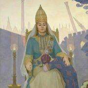 Syuyumbike with her son Utyamysh