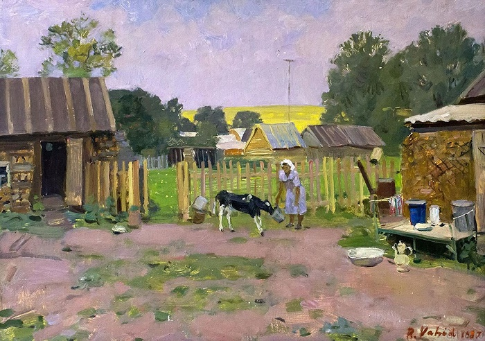 Tatar village yard. 1987