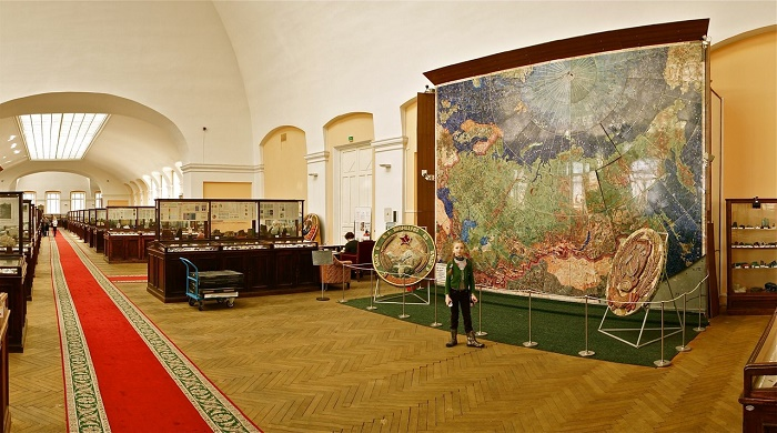 The exhibited Map of the USSR
