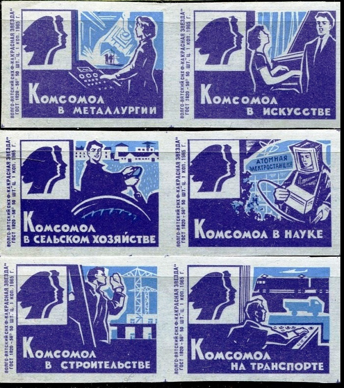 The role of Komsomol in metallurgy, art, science, agriculture, transport and construction