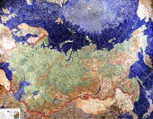 USSR, unique precious map