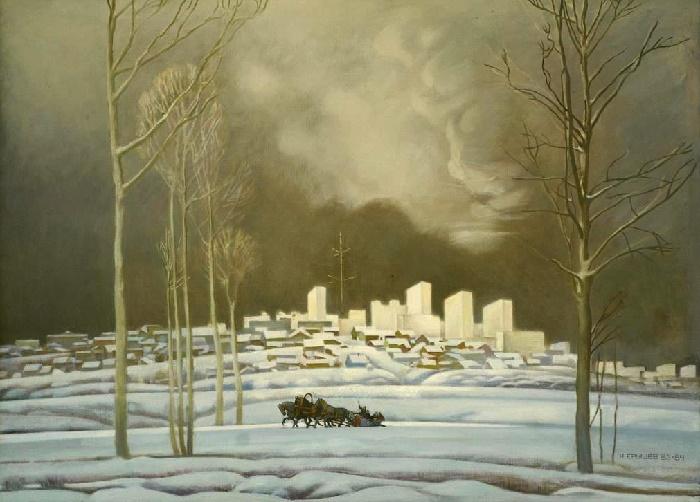 Winter Orenburg. 1983-1984