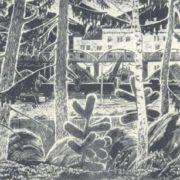 A. Gordeyev. Tashtagol Mine. Linocut. 1968