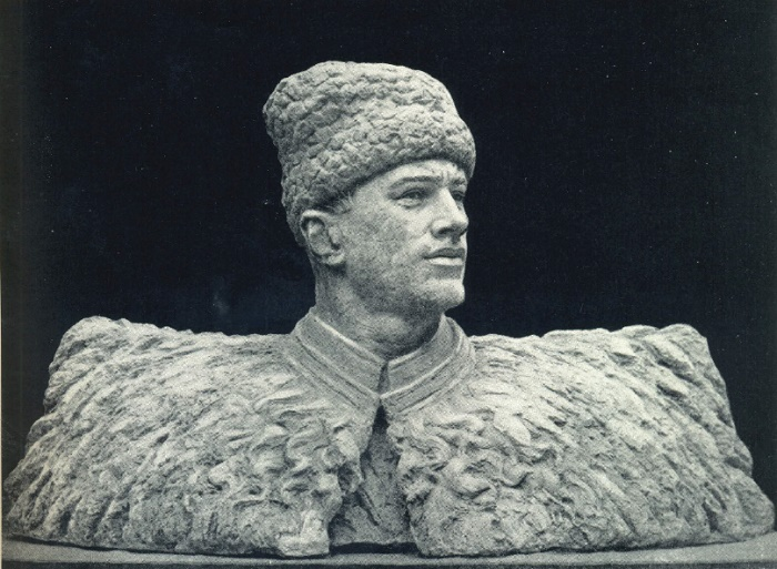 A. Grube. Portrait of L.M. Dovator. 1942