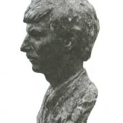 A. Kazantsev. Portrait of the XX Congress of the Komsomol delegates, mechanic NI Boyarchikov. Bronze. 1988