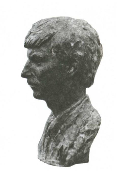 A. Kazantsev. Portrait of the XX Congress of the Komsomol delegates, mechanic NI Boyarchikov. Bronze. 1988