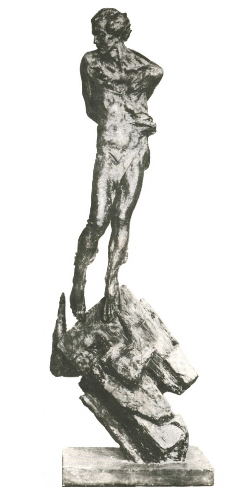 A. Matsyuk. Death of Garcia Lorca. Gypsum. 1987