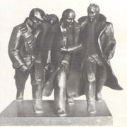 A. Mitlitsky. The alarm time. Bronze, granite. 1981