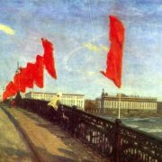 A. S. Baharev (Leningrad). Before the holiday. 1981. Oil on canvas