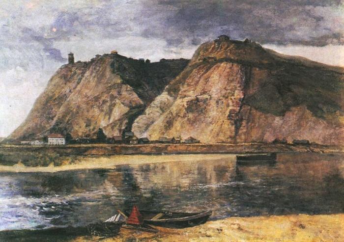 A. Tyulkin. Ufa. Shikhany. Oil. 1953