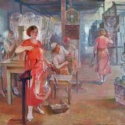 A.G. Sittaro (1906-1942). Komsomol women at the 'Svetlana factory'. 1937
