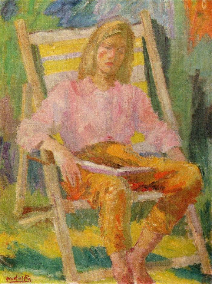 A.M. Gudaitis. Resting Ruta. 1962. Oil, canvas. Kaunas art museum