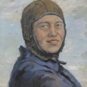 A.N. Bogdanov. Female parachutist. 1937. Oil on canvas