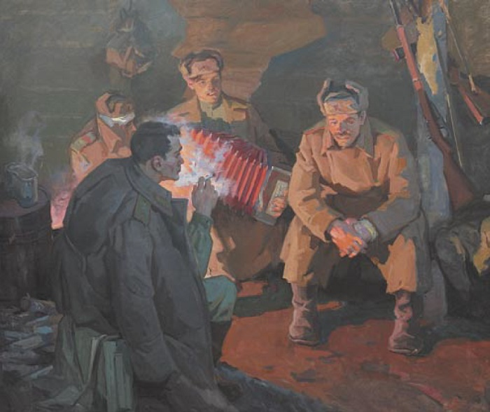 A.P. Kiselev. Soldiers after the battle. 1968-1970