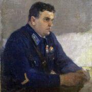 A.V. Kazakov. Portrait of MV Vodopiyanov, 1940s (legendary Soviet pilot)
