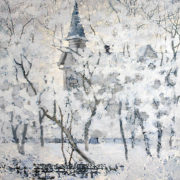 A.V. Yevtikheev. Tomsk winter. Oil on canvas