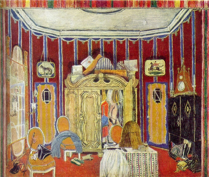 A.Ya. Golovin. A sketch of the scenery for the comedy of Beaumarchais 'Mad day or the marriage of Figaro'. Tempera. The Moscow Art Theater. Moscow. 1927