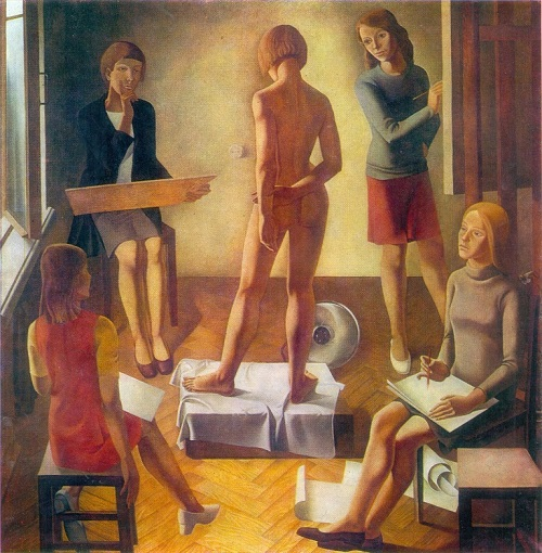 AI Simonov (b. 1941) studio. 1975. Oil on canvas