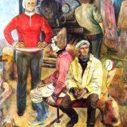 AM Lobko (Bryansk). Giving warmth. 1970-1981. Canvas, oil