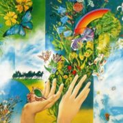 AM Makhotkin (born 1945 Moscow region), LI Petrushin (born 1946 Moscow), AI Solopov (born 1946 Moscow region). Nature. Panels. 1976. Tempera on canvas