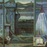 AV Panteleev (Vologda). Evening on the Sheksna. 1981. Oil on canvas