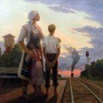 Soviet artist Alexandr Dmitriyevich Romanychev 1919-1989