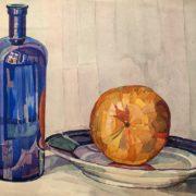 Alexandr Okladnikov (1905-1988). Still life with water-melon. 1925-1929