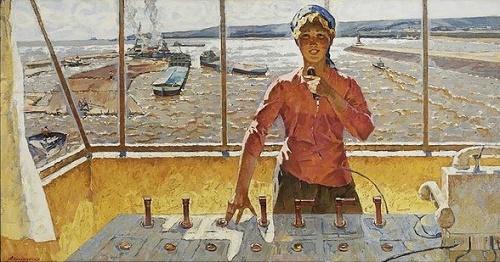 Alexey Prokopenko (1926-1998). Volga hostess. 1977
