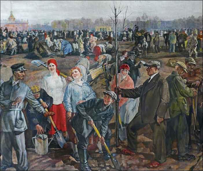Painting by Soviet Russian artist Pyotr Dmitrievich Buchkin (January 22, 1886 - June 21, 1965)