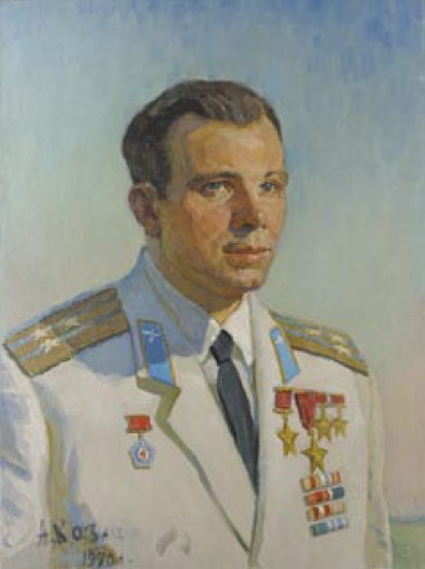 Anatoly Kazantsev. Portrait of Yuri Gagarin. 1970. Oil on canvas