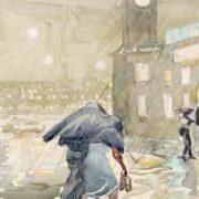 Anna Piskareva. Summer rain. Watercolors