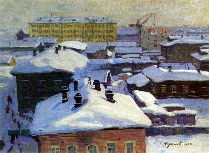 Arkhangelsk from my window. 1965