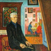 Artist NM. Ledyaev's portrait. 1970. Oil, canvas. The Orenburg Regional Museum of Fine Arts)