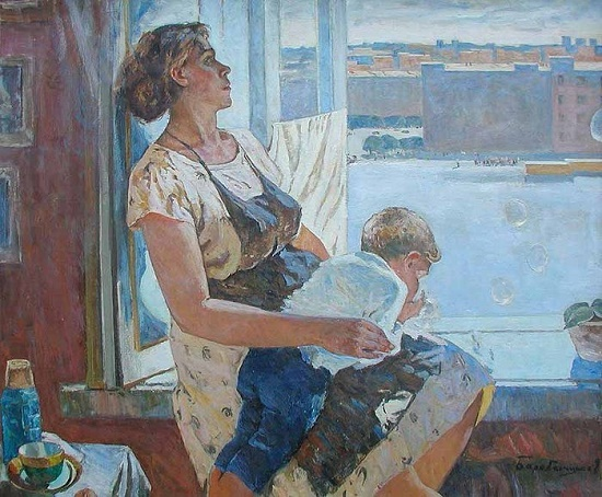 At the window. 1959