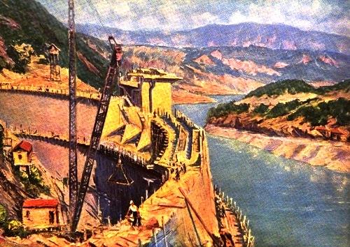 B. Managadze. Construction of hydroelectric power station Landzhanurskaya