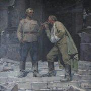B.A. Litovchenko. b. 1938. Russian soldiers in Berlin. 1976. Oil on canvas