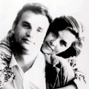 Beautiful couple Dzidra Ritenberga and her husband Urbansky