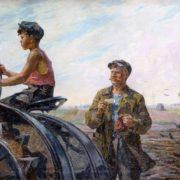 Boris A. Shatilov (1905-2000). He will be a tractor driver. 1952