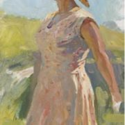 Country woman, sketch for painting. 1959