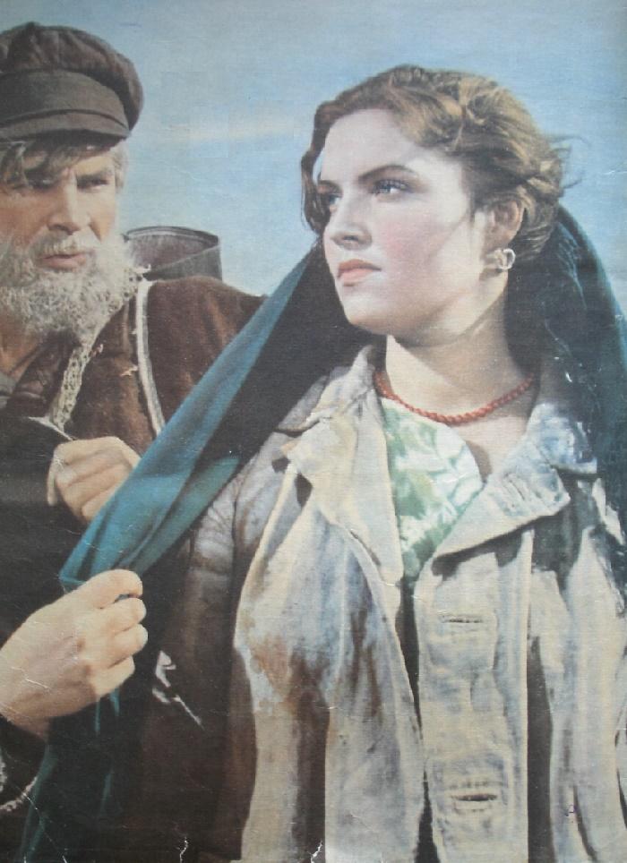 Dzidra Ritenberga in 1956 film 'Malva'. USSR (Soviet screen 2-1957)