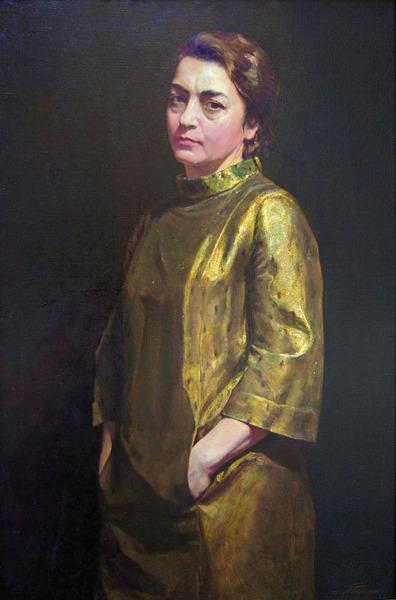 E.A. Belousova, artist's wife. 1975