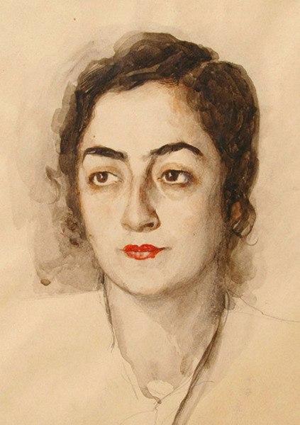 E.A. Belousova's portrait