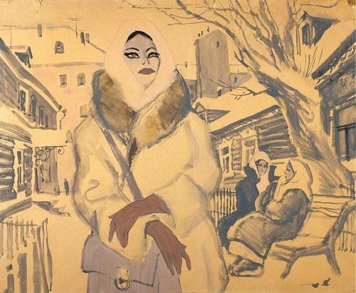 E.A. Shukayev. Provincial beauty. 1973
