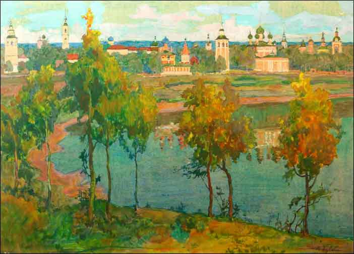 Early autumn in Uglich. 1924