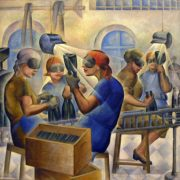Elena Bebutova-Kuznetsova (1892-1970). Bottling of mineral water 1932