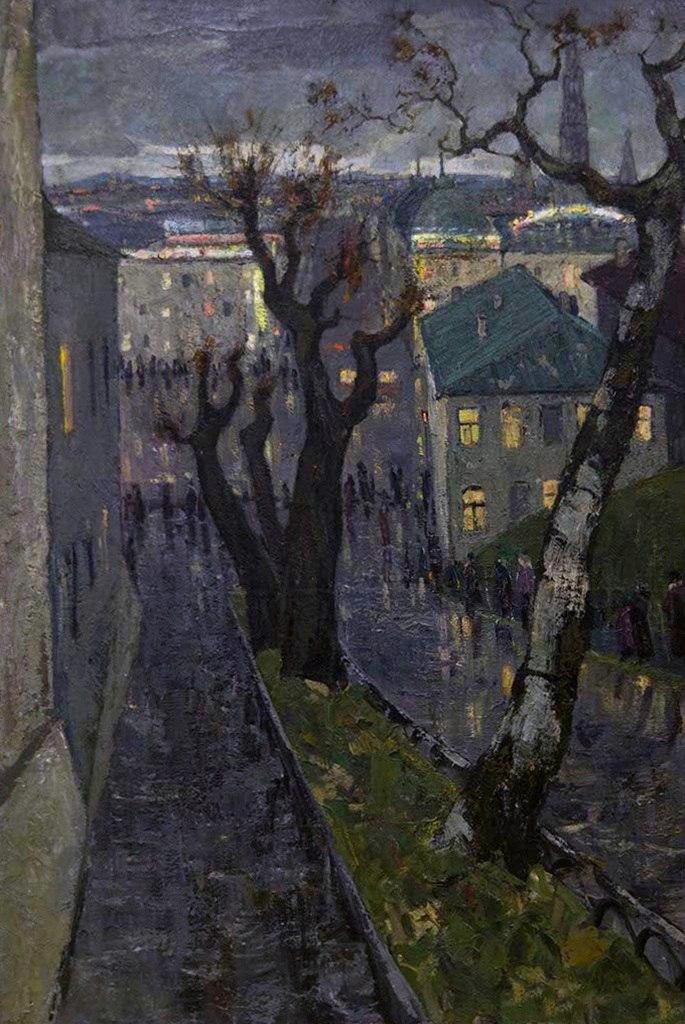 Evening city. 1959
